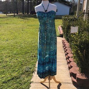 C.O.C Blue Hawaiian Dress